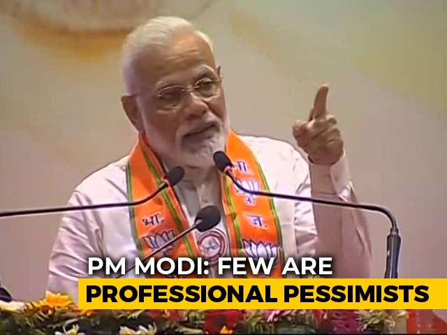 "Video : ""Professional Pessimists"": PM Modi Slams Those Criticizing Budget 2019"