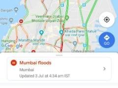 Google Maps Adds Mumbai Floods Feature To Alert Waterlogged Roads & Road Closures