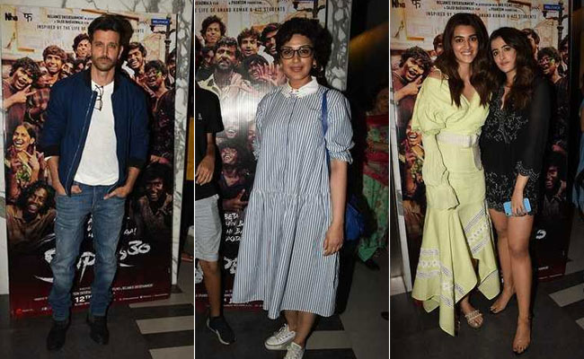 Hrithik Roshan Invites Sonali Bendre, Kriti Sanon And Others To Super 30 Screening. See Pics