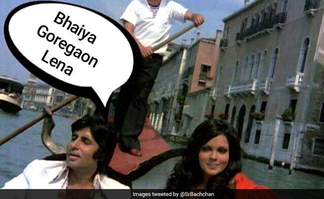 In A Mumbai Crippled By Rain, Amitabh Bachchan Shares A Meme Borrowed From Old Film