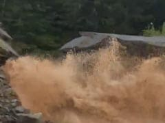 Watch: Shocking Moment Road Collapses, Disappears During Canada Floods