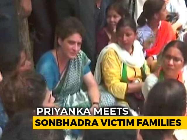 """Video : """"I'll Be Back"""", Says Priyanka Gandhi After Meeting UP Shootout Victims"""