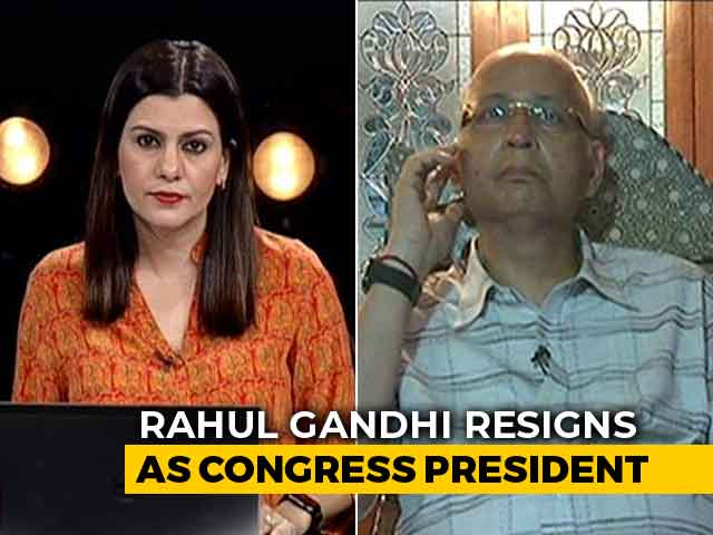 Video : He Worked The Hardest Of All: Congress Leader On Rahul Gandhi Stepping Down As Party Chief
