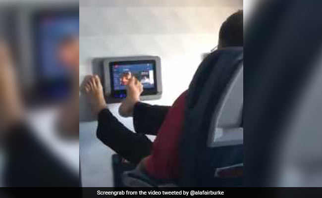 Viral Video Of Passenger Using Feet On In-Flight Screen Horrifies Twitter