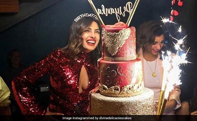 Here's How Much Nick Jonas Spent On Priyanka Chopra's Towering Birthday Cake