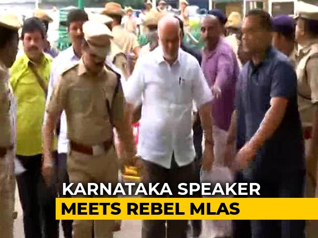 Video : Karnataka Rebel Lawmakers Meet Speaker, Submit Resignations Again