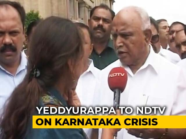 "Video : ""HD Kumaraswamy Should Resign Immediately"": BS Yeddyurappa To NDTV"