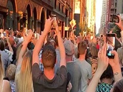 Choir, Broadway Casts Perform On New York Street During Blackout