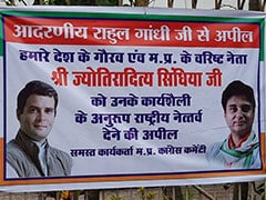 """Jyotiraditya Scindia For Chief"" Poster Appears And Vanishes Within Hours In Bhopal"