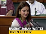 "Video : ""Horrendous Acts Of Mobocracy"": Lawmaker Nusrat Jahan In Open Letter"