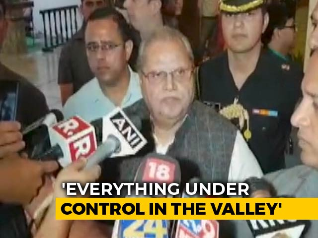 """Video : J&K Governor Rejects Rumours Over Special Status, Says """"No Order Valid"""""""