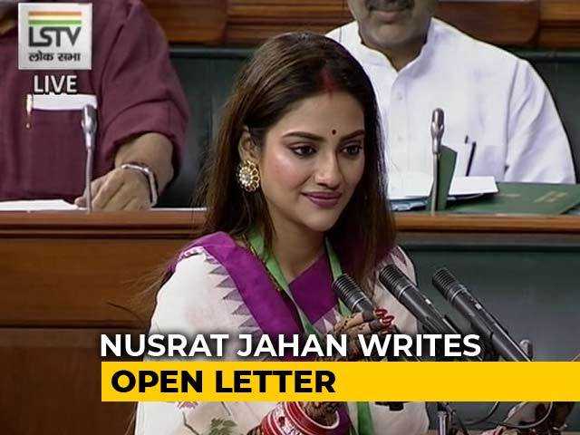 """Video : """"Horrendous Acts Of Mobocracy"""": Lawmaker Nusrat Jahan In Open Letter"""