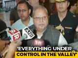 "Video : J&K Governor Rejects Rumours Over Special Status, Says ""No Order Valid"""