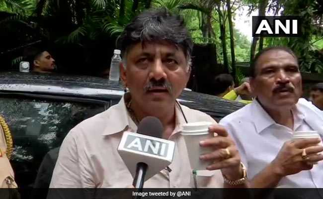 DK Shivakumar Stopped As Karnataka Rebel Lawmakers Alleged Threat: Centre