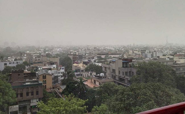 Heavy Rain Hits Parts Of Delhi After Days Of Heat, Humidity