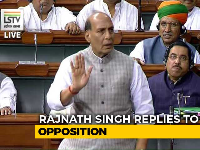 "Video : ""No Question Of Kashmir Mediation"": Rajnath Singh Amid Row Over Trump Claim"