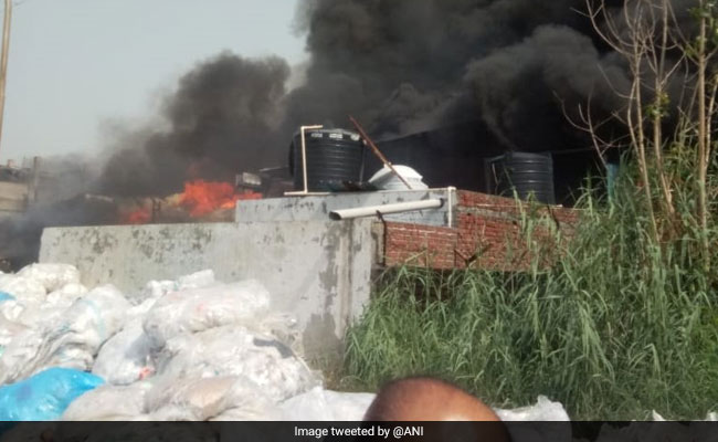 Major Fire Breaks Out At Factory In Noida Special Economy Zone