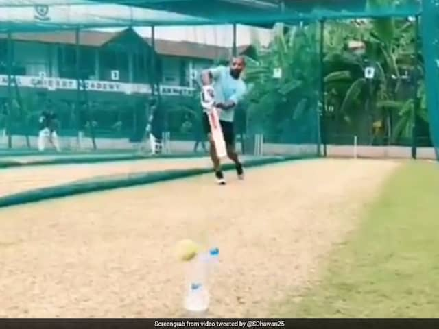 Shikhar Dhawan Takes Up Bottle Cap Challenge as Comeback from Injury Begins