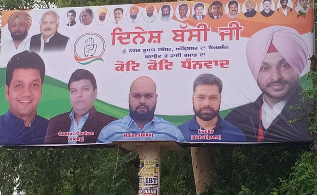 No Navjot Sidhu In Posters In Amritsar Amid Feud With Amarinder Singh
