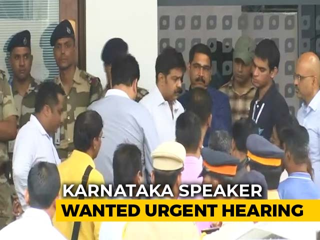 Video : Karnataka Battle In Top Court, Rebel Lawmakers Told To Meet Speaker Today