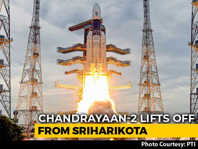 "Video : ""Perfect Lift-Off"": Chandrayaan 2, India's Moon Mission, Launched"