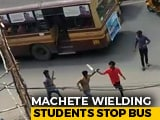 Video : Machetes In Hand, 2 College Students Attack Rivals In Chennai Bus