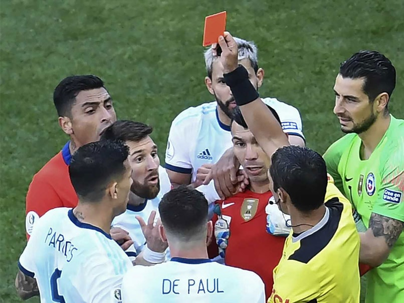 "Lionel Messi Blasts Copa America ""Corruption"" After Red Card"