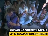 Video : Priyanka Gandhi Sits In The Dark As Power Cut Hits Mirzapur Guest House