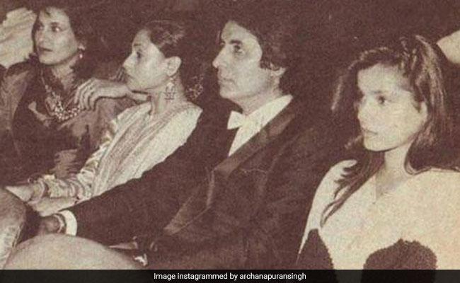 Pic: Amitabh And Jaya Bachchan, Neelam And Archana Puran Singh, Circa 1990