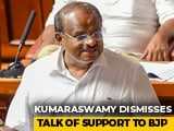"Video : ""Baseless"": HD Kumaraswamy Dismisses Talks Of Support To BJP"
