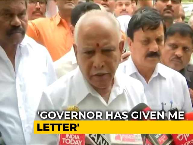 Video : BJP's BS Yediyurappa To Take Oath At 6 pm As Karnataka Chief Minister