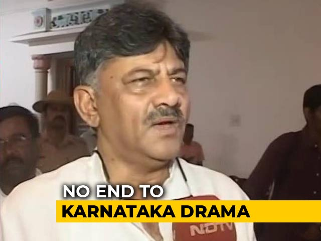 "Video : ""No One Can Save Them"": DK Shivakumar Warns Karnataka Rebel Lawmakers"