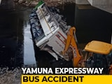 Video : 29 Dead After Bus Skids Off Yamuna Expressway Near Delhi, 17 Injured