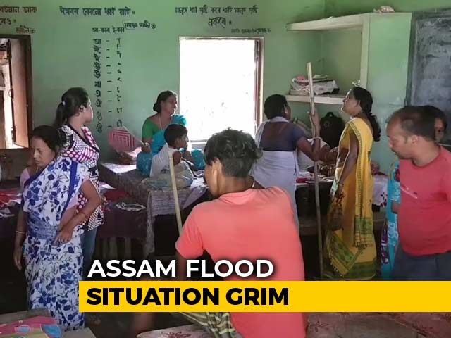 Video : In Flood-Ravaged Assam, How People Are Coping In Relief Camps
