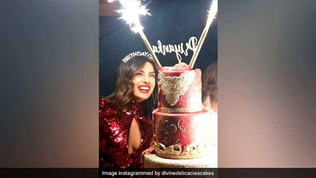 Priyanka Chopra's Lavish 5-Tier Birthday Cake Was 'As Big As Her'