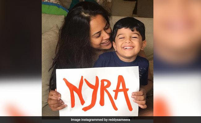 Introducing Sameera Reddy's Baby Daughter - Nyra