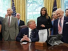 """""""Who Knows Better.."""": Trump Pits NASA Chief Against First Astronauts On Moon"""
