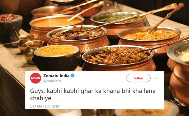 Zomato's Viral 'Ghar Ka Khana' Tweet Triggers Hilarious Responses