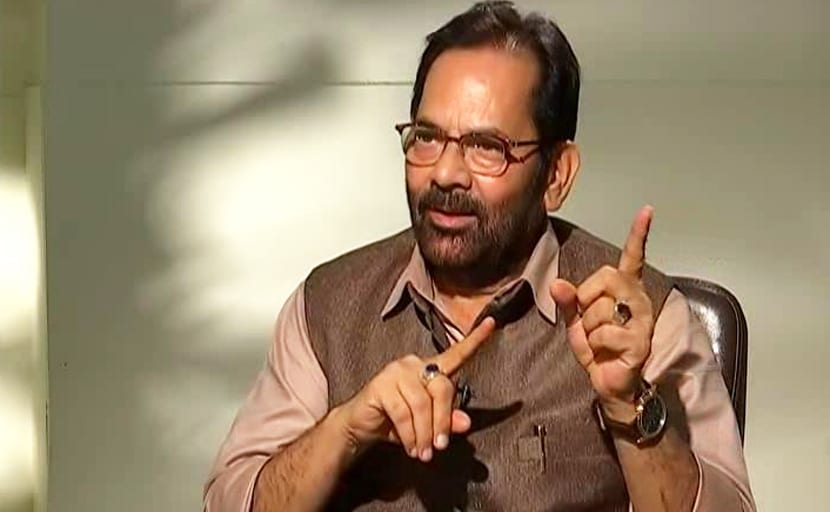 Win Over People With Hard Work: Mukhtar Abbas Naqvi To BJP Workers