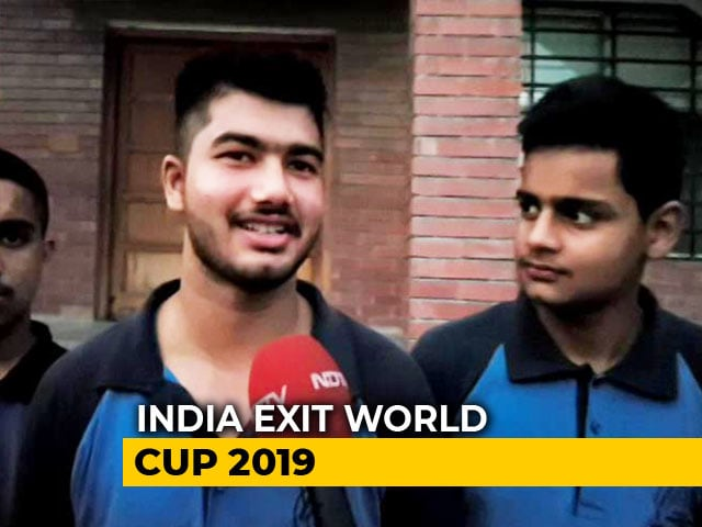 Video : Fans Disappointed, Back Team India's World Cup Campaign