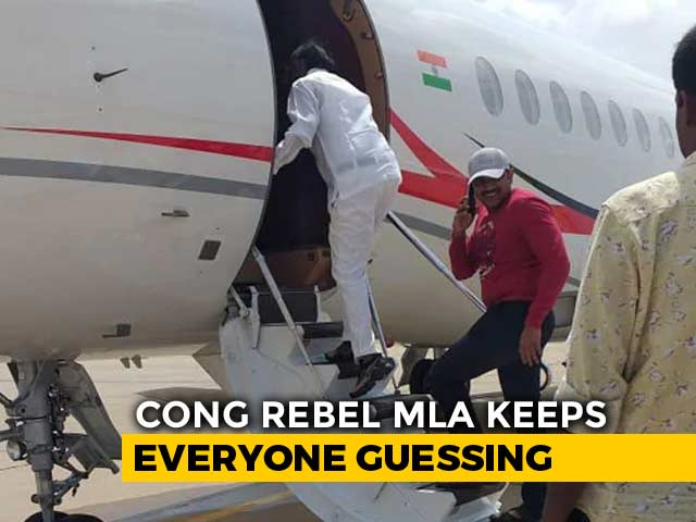 Video : Congress Rebel Who Raised Karnataka Coalition's Hopes Jets It To Mumbai