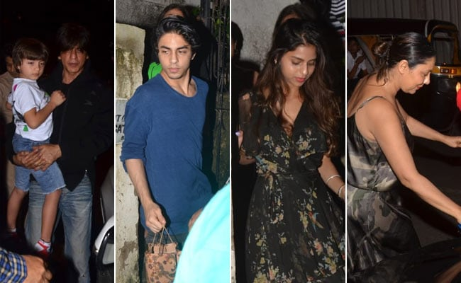 Shah Rukh Khan And Aryan Took AbRam To The Lion King Screening. Also Spotted - Suhana And Gauri. Hakuna Matata