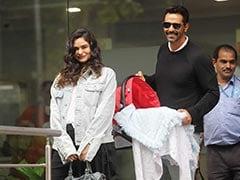 अर्जुन रामपाल की गर्लफ्रेंड हॉस्पिटल से हुईं डिस्चार्ज तो गैब्रिएला और बेटे को घर लेकर पहुंचे एक्टर, देखें Photo