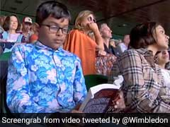 Boy Reading At Roger Federer vs Rafael Nadal Wimbledon Semi-Final Is Twitter