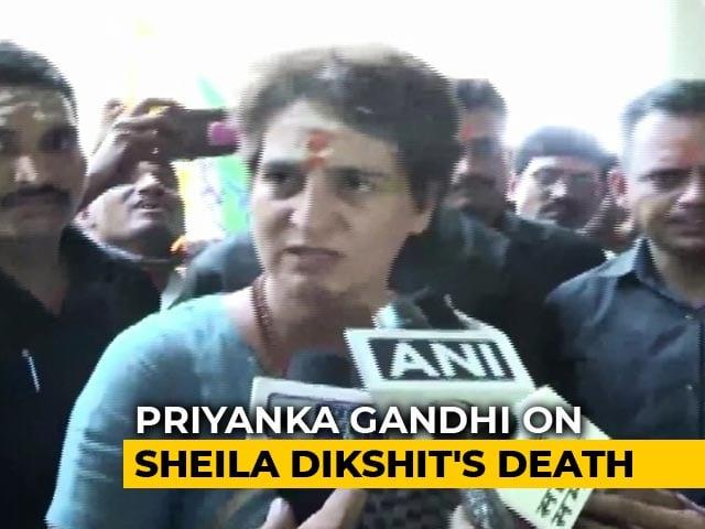 "Video : ""She Would Hug Me Whenever We Met"": Priyanka Gandhi Mourns Sheila Dikshit"