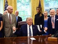 Trump Meets Apollo 11 Astronauts Buzz Aldrin, Mike Collins In White House