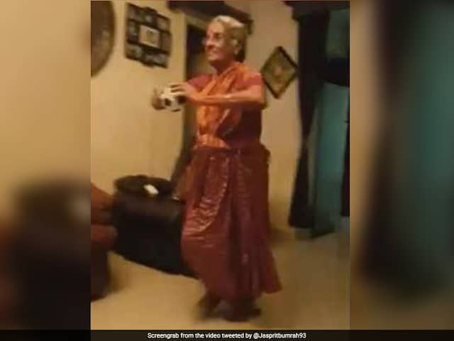 India Bowler Jasprit Bumrah reacts to Fans Mother imitating his bowling action