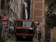 Firefighters Broke Delhi Rubber Factory's Window Grill For Rescue Ops