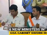 Video : 4 New Ministers Join Goa Cabinet, Including 3 Congress Defectors