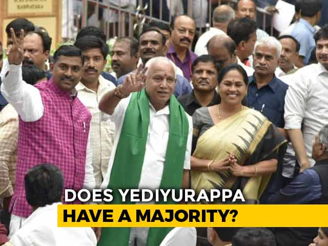 Video : BS Yediyurappa, Spelled Differently, Takes Oath, Trust Vote On Monday